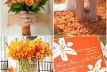 Casamento decoração laranja