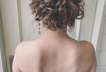 ドレス 髪型