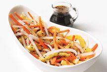 Salade asiatique:  daikon, carottes et ananas