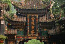 Aquarela - Templo Chinês
