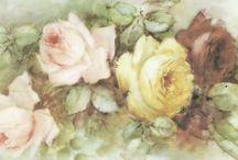 Sonie Ames rose flower watercolor