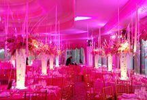pink uplighting / by Superlative Events