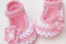 Sapatos de crochê  para bebês