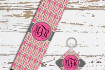 Monogrammed seat belt strap covers