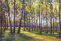 Trees / tree paintings in pastel and oil