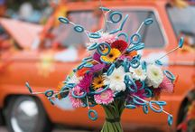 Visit Moscow /  Colourful gerbera bouquets in the middle of the city of Moscow