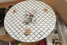 Ahsap boyama yer masasi