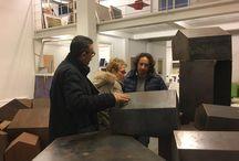 MPGart nello studio di Sandro Bracchitta con Arturo Barbante