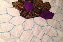honeycomb patchwork of crosses