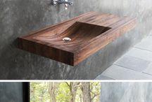 Wooden basins