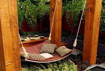 Zahradni inspirace / Jak si zpříjemnit volnou chvilku na zahradě? Uvolněte se a zavřete oči a relaxujte... :-)