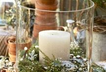 Candle ring centerpiece