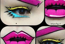 Pop art makeup/Halloween