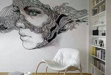 Male vegg og møbler