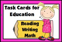 Task Cards for Education / Need a center? A warm-up exercise? Extra homework practice? A small group lesson? Spruce up your units with these fun Task Cards!