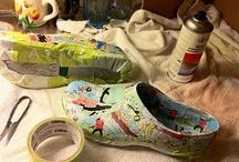 Papel decorar zapatos y muebles