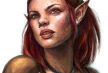 Elfos / Imágenes de elfos, eladrines, drow y semielfos.