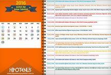 Sınav Takvimi / Sınav tarihleri, başvuru başlangıç ve bitiş tarihleri hakkında bilgi