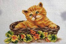 Koty / Haft krzyzykowy