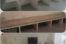 tv meubel en bank ineen