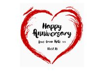 Personalised Anniversary Cards / Personalised Anniversary Cards, FREE U.K Delivery, Shop online at ashleyhigginsdesign.com