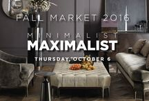 PDC Fall Market 2016 / PDC's Fall Market 2016 MINIMALIST|MAXIMALIST theme takes center stage. Our Fall Market will examine and interpret the two opposing style philosophies, and their current, evolving relevance influencing interiors, architecture and product design.