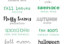 Lettering and Printables