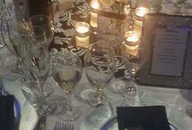 Navy Blue and Damask Wedding