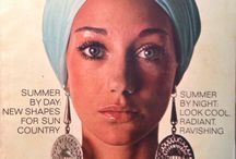 1960s, 70s Vintage Vogue Pattern Magazine --covers and photo spreads