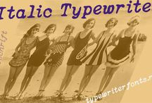 Typewriter fonts / Various typewriter fonts