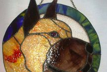 Dogs / Here I will post a photo of my works made of glass.