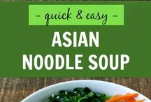 Asian inspiration meals and snacks / Asian infusion meals and snacks