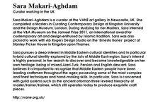Sara Makari - Curator / First Curator to Select Work