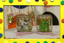 Kerst versiering knutselen / De knutselzussen hebben zin in de kerst en maken daarom graag kerstversiering voor in huis!
