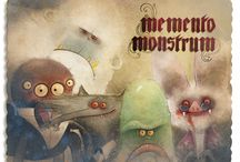 "Memento Monstrum / Dear friends!  My Kickstarter project ""Memento Monstrum"" is live now!  Support my Kickstarter and get a vintage photo album of my monster friends and me here:  http://www.memento-monstrum.com  Looking forward to see you there,  your friend D."
