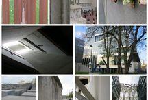 Collage / Plekken waar je veel inspiratie kunt vinden, tot jezelf komt of juist meegezogen wordt in al het moois. Foto's zijn zelf gemaakt.
