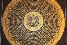 Mantra mandala paintings