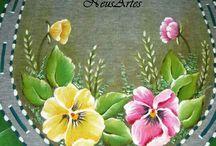 pintura em tapetes