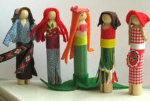 Clothespin dolls...