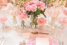 Rose Gold + Blossom Wedding / Rose Gold and soft pink blushed hues were complimented by light grey base linen. Dusty Rose Charger plates set the scene for our custom designed stationery, consisting of Menus, Place Cards and Table Numbers, by our in-house Graphics Team. Cascades of pink florals adorned the center of the table with soft pink roses and defined structure of the blossom branches, beautifully put together by our in-house Floral Artisans.   See the full film on our You Tube Channel: https://youtu.be/G0aqnDK96D0