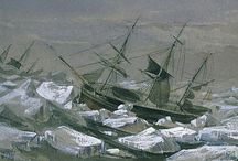 HMS EREBUS / Collection of paintings of HMS Erebus