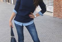 Suéteres azul marino