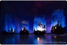 Mason jars / Solar? Christmas night lights