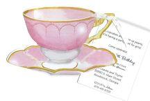 Tea Party Invitations / #TeaParty #Invitations