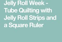 Make a jelly roll quilt.