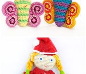 children and baby amigurumi toys