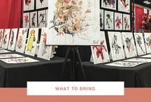 Artist Alley Beginner's Guide / This guide is for aspiring artists who are interested in showcasing their artwork at Artist Alley or craft fairs.