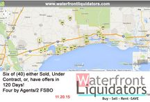 Weekly Updates / This board shows a snapshot of the weekly activity on www.waterfrontliquidators.com.
