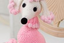 Knitted and crocheted animals