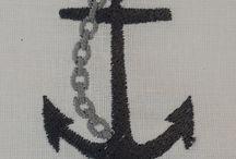 Nautical digital embroidery desings